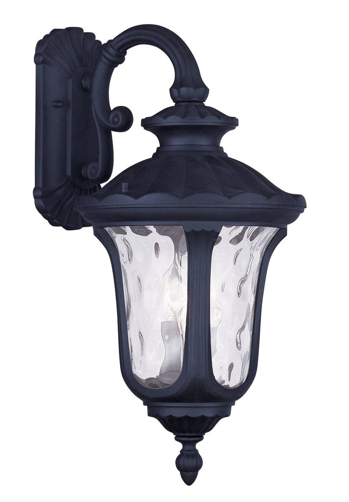 Livex Oxford 3 Light Black Outdoor Wall Lantern - C185-7863-04