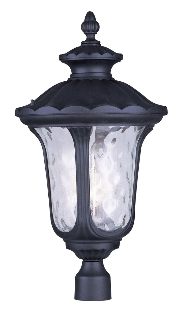 Livex Oxford 3 Light Black Outdoor Post Lantern - C185-7864-04