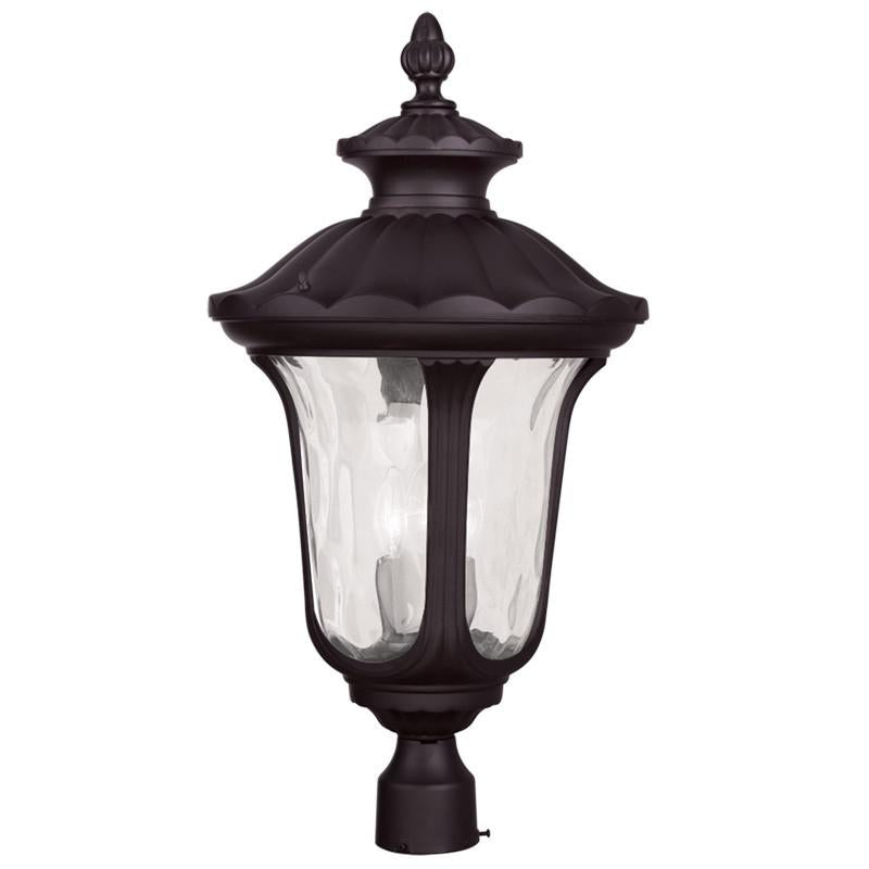 Livex Oxford 3 Light Bronze Outdoor Post Lantern - C185-7864-07
