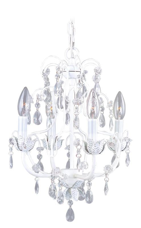 Livex Athena 4 Light Antique White Chandelier - C185-8193-60