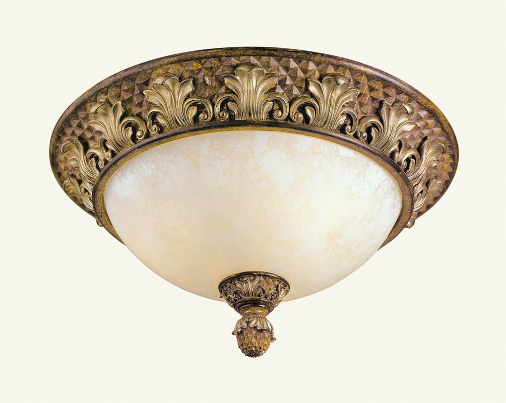 Livex Savannah 3 Light Venetian Patina Ceiling Mount - C185-8458-57