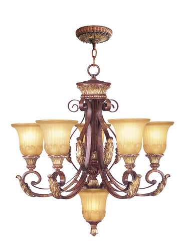 Livex Villa Verona 5 Light VBZ Chandelier - C185-8555-63