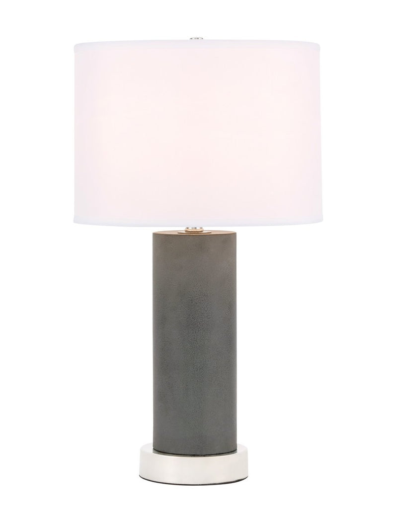ZC121-TL3045PN - Regency Decor: Chronicle 1 light Polished Nickel Table Lamp