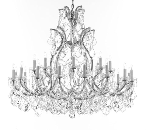 "Crystal Chandelier Lighting Chandeliers H41""XW46"" Great for the Foyer, Entry Way, Living Room, Family Room and More - A83-B62/CS/52/2MT/24+1"