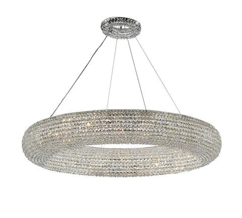 "Crystal Halo Chandelier Modern / Contemporary Lighting Floating Orb Chandelier 41"" Wide - Good for Dining Room, Foyer, Entryway, Family Room and More! - CJD-4156/18"