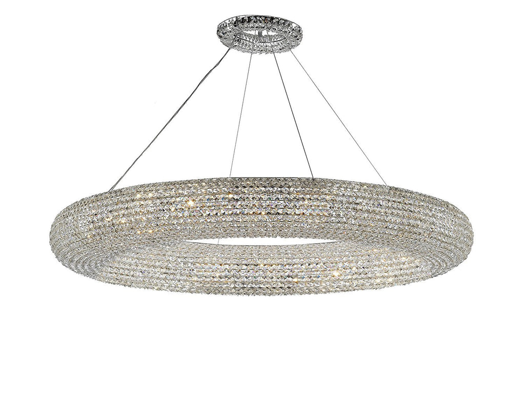 "Crystal Halo Chandelier Modern / Contemporary Lighting Floating Orb Chandelier 71"" Wide - Good for Dining Room, Foyer, Entryway, Family Room and More! - CJD-4156/30"