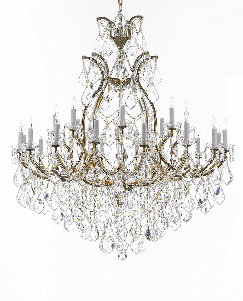 "Swarovski Crystal Trimmed Chandelier Lighting Chandeliers H52"" X W46"" Dressed with Large, Luxe Crystals - Great for the Foyer, Entry Way, Living Room, Family Room and More - A83-B90/52/2MT/24+1SW"