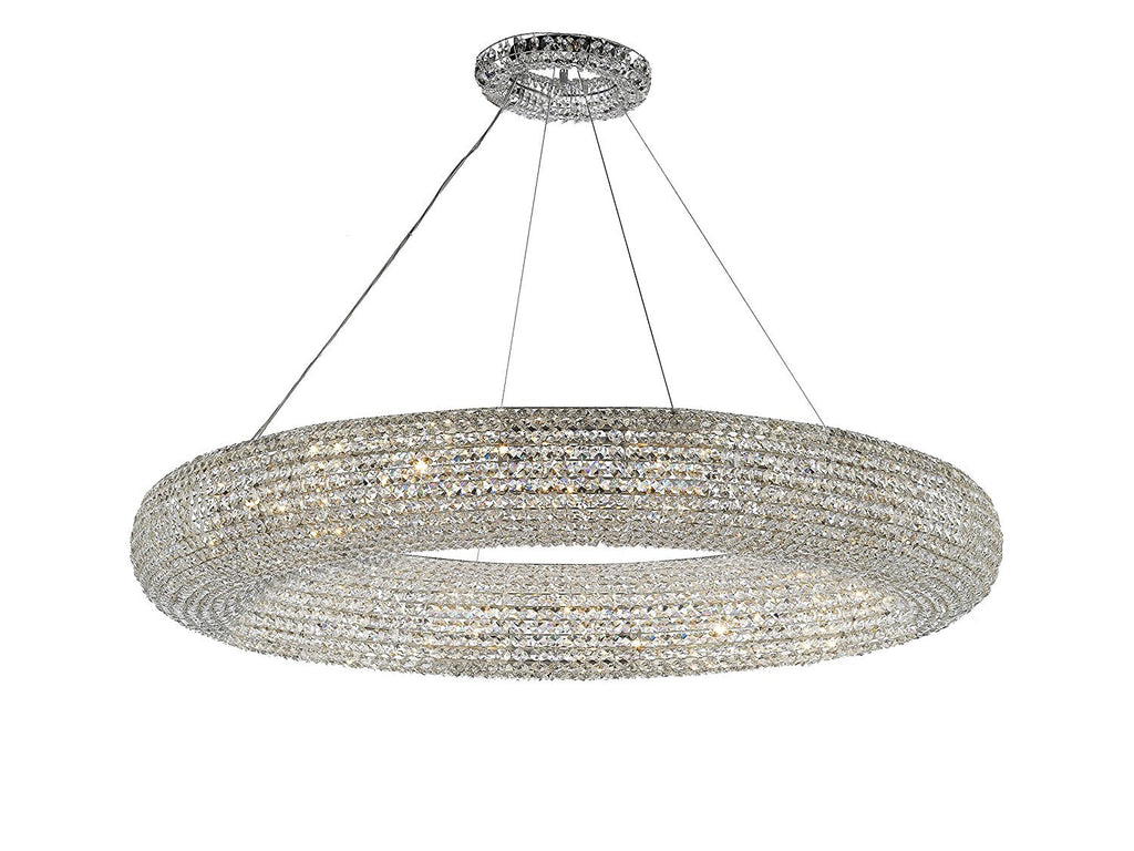 "Crystal Halo Chandelier Modern / Contemporary Lighting Floating Orb Chandelier 59"" Wide - Good for Dining Room, Foyer, Entryway, Family Room and More! - CJD-4156/24"