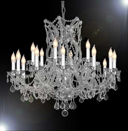 "Chandelier Crystal Lighting Chandeliers - Great For The Dining Room Foyer Living Room H28"" X W37"" - A83-Silver/1510/15+1"
