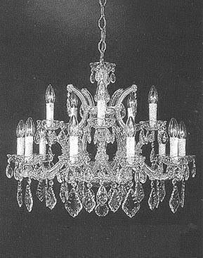 "Chandelier Crystal Lighting Chandeliers - Great For The Dining Room Foyer Living Room H22"" X W28"" - A83-Silver/1532/12+1"