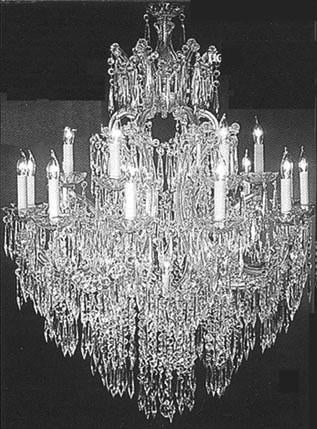 "Maria Theresa Crystal Icicle Waterfall Chandelier Lighting- Great For The Dining Room Foyer Living Room W37"" H44"" - A83-Silver/91535/15+1"
