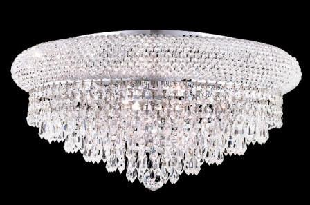 C121-1802F20C/SA By Elegant Lighting Primo Collection 10 Lights Flush Mount Chrome Finish