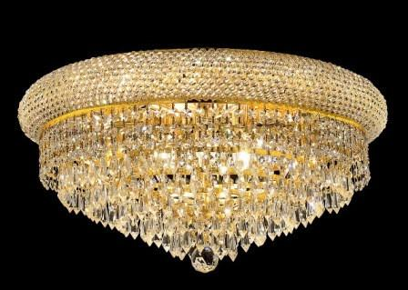 C121-1802F20G/SA By Elegant Lighting Primo Collection 10 Lights Flush Mount Gold Finish