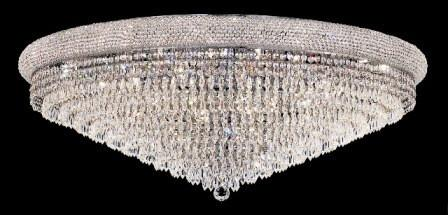 C121-1802F42C/SA By Elegant Lighting Primo Collection 30 Lights Flush Mount Chrome Finish