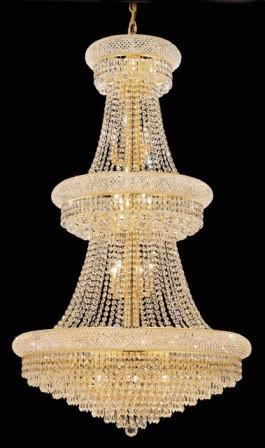 C121-1802G30G/SA By Elegant Lighting Primo Collection 32 Lights Chandelier Gold Finish