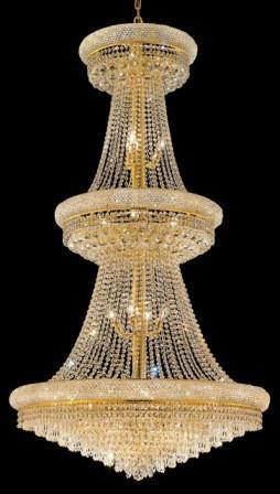 C121-1802G36G/SA By Elegant Lighting Primo Collection 32 Lights Chandelier Gold Finish
