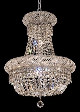 C121-1803D16C/SA By Elegant Lighting Primo Collection 8 Lights Chandelier Chrome Finish