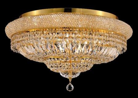 C121-1803F28G/SA By Elegant Lighting Primo Collection 15 Lights Flush Mount Gold Finish