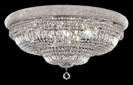 C121-1803F36C/SA By Elegant Lighting Primo Collection 20 Lights Flush Mount Chrome Finish
