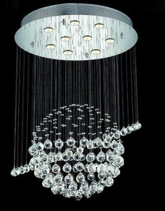 C121-2004D26C/SA By Elegant Lighting Galaxy Collection 7 Lights Chandelier Chrome Finish