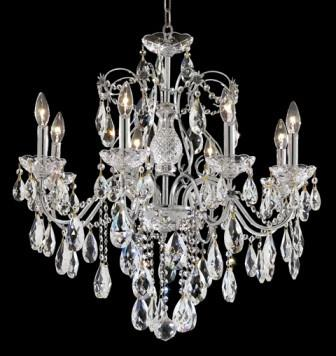 C121-2016D26C/SA By Elegant Lighting St. Francis Collection 8 Lights Chandelier Chrome Finish