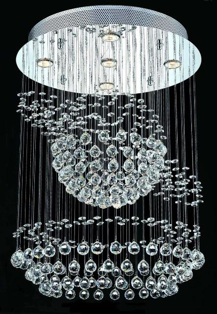 C121-2026D22C/SA By Elegant Lighting Galaxy Collection 5 Lights Chandelier Chrome Finish