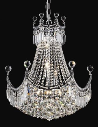 C121-8949D20C By Regency Lighting-Corona Collection Chrome Finish 9 Lights Chandelier