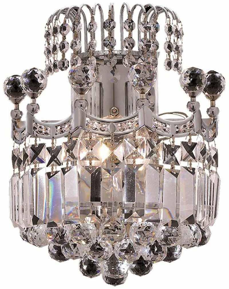 ZC121-V8949W12C/EC By Regency Lighting - Corona Collection Chrome Finish 2 Lights Wall Sconce