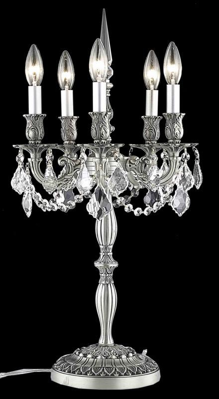 ZC121-9205TL13PW/EC By Regency Lighting Rosalia Collection 5 Light Table Lamps Pewter Finish