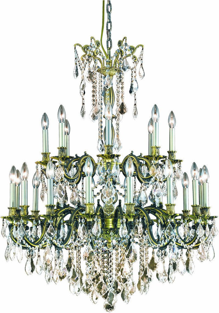 ZC121-9224G36AB/EC By Regency Lighting - Rosalia Collection Antique Bronze Finish 24 Lights Foyer/Hallway