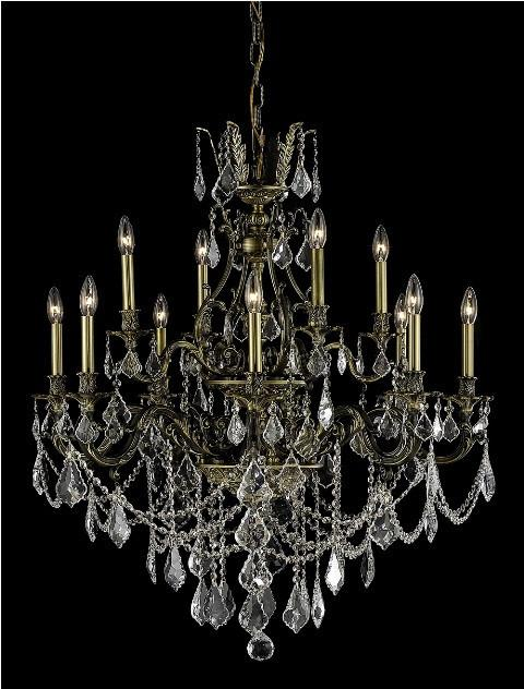 ZC121-9612D35AB/RC By Regency Lighting Monarch Collection 12 Light Chandeliers Antique Bronze Finish