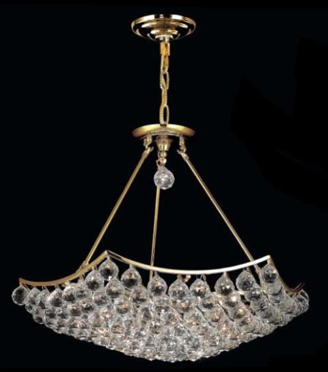 C121-9802D26G/RC By Elegant Lighting Corona Collection 12 Light Chandeliers Gold Finish