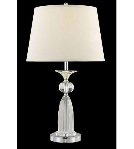 ZC121-TL125 By Regency Lighting Grace Collection 1 Light Table Lamp Chrome Finish