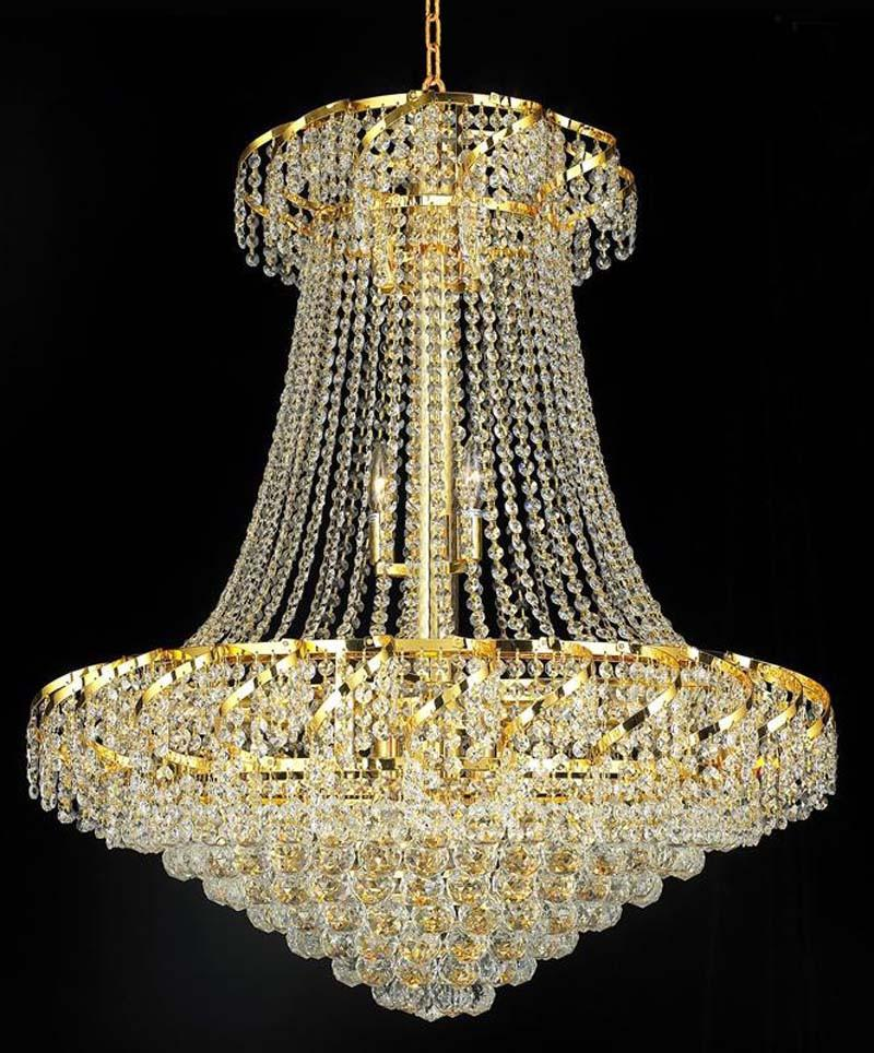 ZC121-VECA1D30G/EC By Regency Lighting - Belenus Collection Gold Finish 18 Lights Dining Room