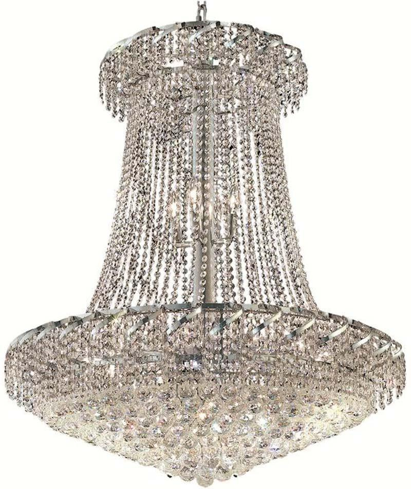 C121-ECA1G36SC/RC By Elegant Lighting - Belenus Collection Chrome Finish 22 Lights Foyer/Hallway