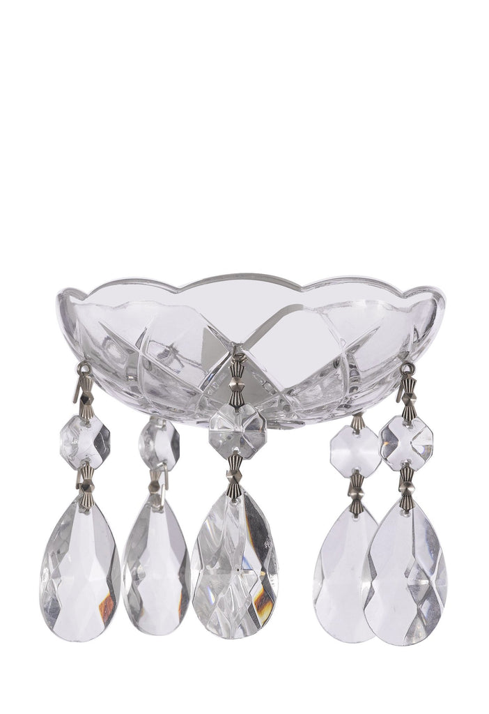 Set of 10 Asfour Crystal 30/% Lead Crystal Bobeche Bobache Chandelier Parts Cups