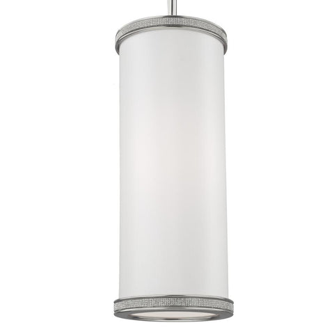 Murray Feiss 1 - Light Crystal Inlay Mini-Pendant Polished Nickel - C140-P1330PN