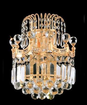 C121-GOLD/8949W/1212 Corona CollectionEmpire Style WALL SCONCES, Crystal Chandelier, Crystal Chandeliers, Lighting