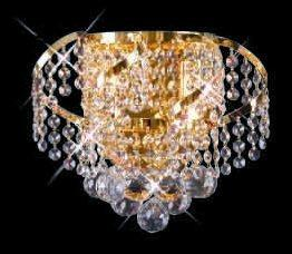 C121-GOLD/ECA001W/128 Belenus CollectionEmpire Style WALL SCONCES, Crystal Chandelier, Crystal Chandeliers, Lighting