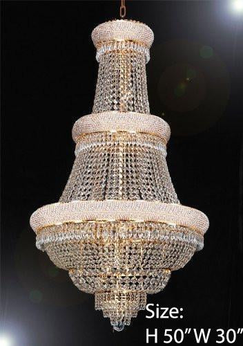 "Swarovski Crystal Trimmed Chandelier Empire Chandelier Lighting W/ Swarovski Crystal 30""X50"" - A93-448/21Sw"
