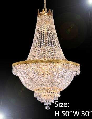 "French Empire Crystal Chandelier Lighting H50"" X W30"" - A93-870/14Large"
