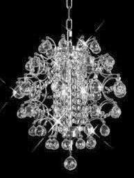 C121-8064D14C/SA By Elegant Lighting St. Ives Collection 3 Lights Chandelier Chrome Finish