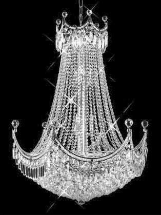 C121-SILVER/8949/3040 Corona CollectionEmpire Style CHANDELIER Chandeliers, Crystal Chandelier, Crystal Chandeliers, Lighting