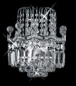 C121-SILVER/8949W/1212 Corona CollectionEmpire Style WALL SCONCE Chandeliers, Crystal Chandelier, Crystal Chandeliers, Lighting
