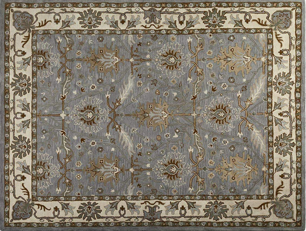Caspian Hand-Tufted Wool Rug Area Rug 5 X 7 - T302-IN-203-5X7