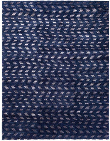Handknotted Chevron Rug Area Rug 8 X 10 - J10-IN-402-8X10