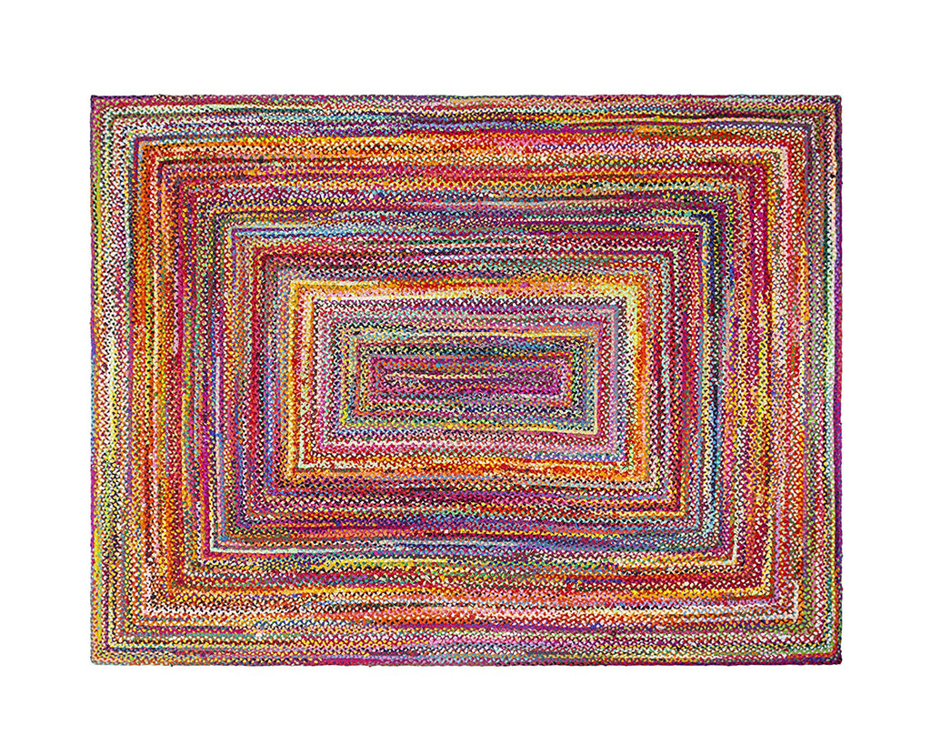 Multi Color Handbraided Jute Rug Area Rug 8 X 10 - T302-IN-601-8X10