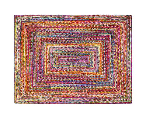 Multi Color Handbraided Jute Rug Area Rug 5 X 7 - J10-IN-601-5X7