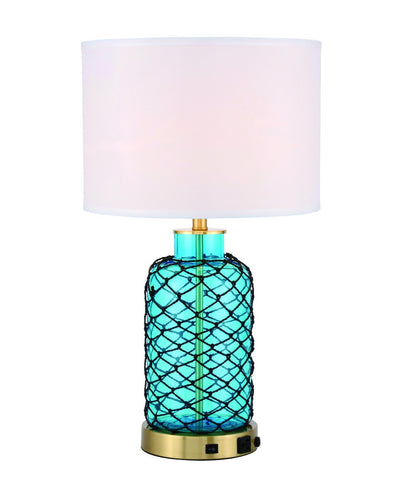 ZC121-TL3033BR - Regency Decor: Sirena 1 light Brass Table Lamp