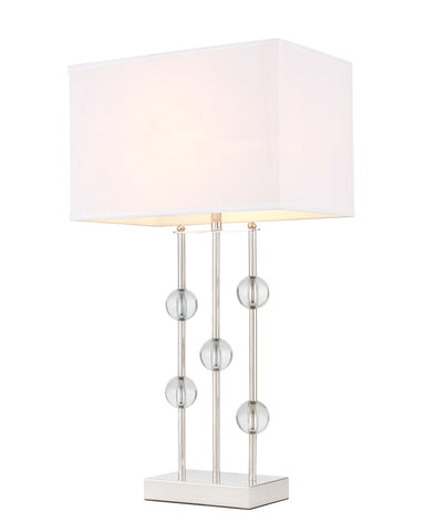 ZC121-TL3025PN - Regency Decor: Rene 1 light Polished Nickel Table Lamp